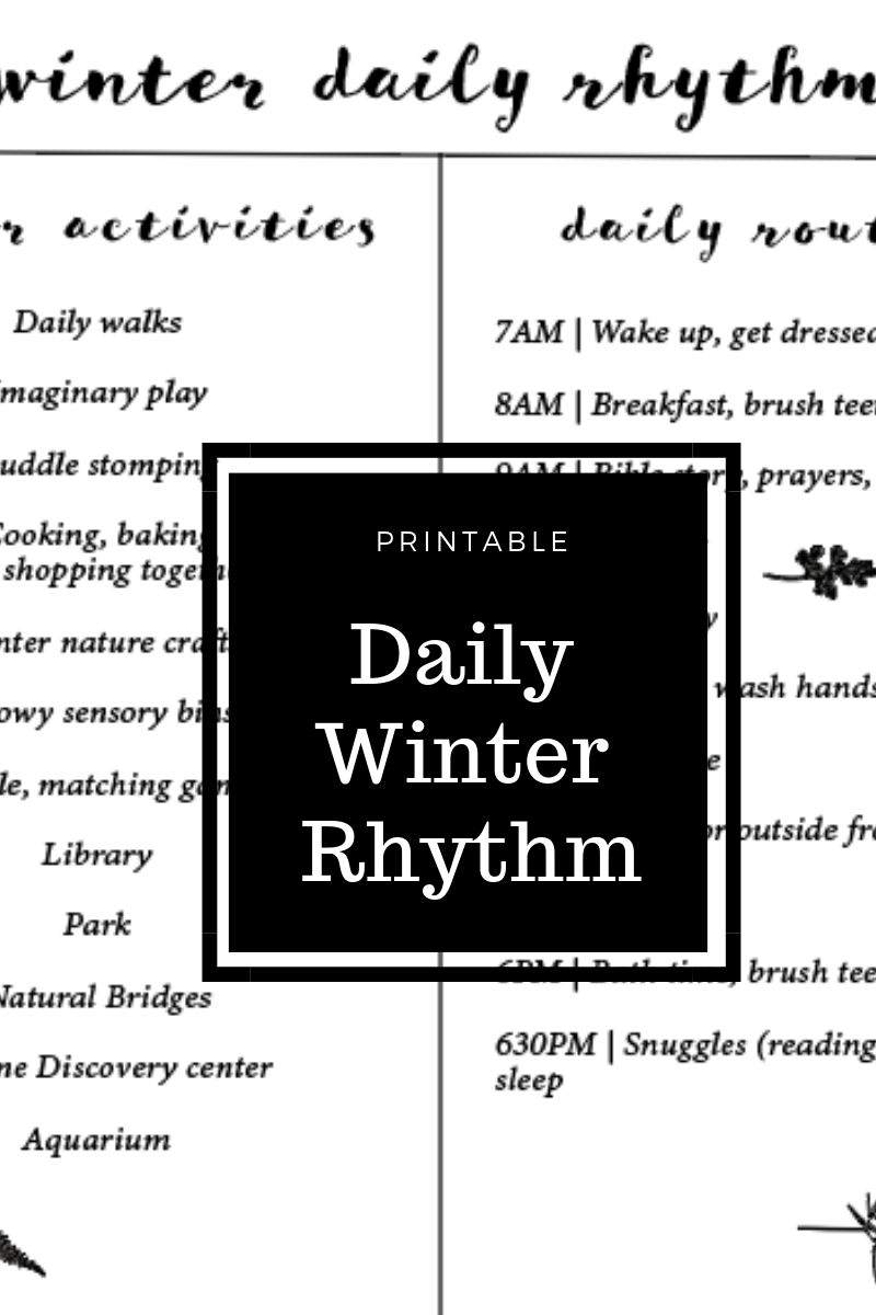 Daily Winter Rhythm Printable